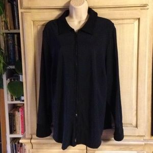 Lane Bryant zip front Knit Jacket 18/20